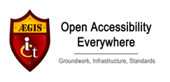 Banner for ÆGIS (Europe): Open Accessiblity Everywhere - Groundwork, Infrastructure, Standards.